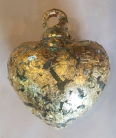 Image Clear Heart with Gold Leaf