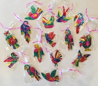 Image Assorted Bird Tin Ornaments, S/10