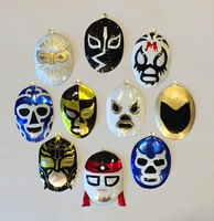 Image Assorted Tin Lucha Ornaments, S/10