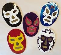 Image Tin Lucha Mask with Reflecting Eyes