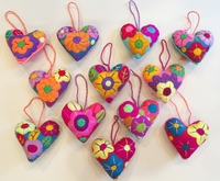 Image Embroidered Heart Ornament