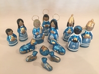 Image Traditional Clay Nativity, Medium