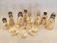 Image Traditional Clay Nativity, Large