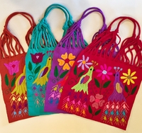 Image Flora and Fauna Loom Embroidered Tote