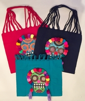Image Loom Embroidered Tote with Catrina
