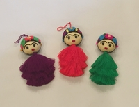 Image Frida Ornament with Cascading Pompom