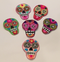 Image Embroidered Calavera Coasters, Set of 6