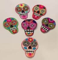 Image Embroidered Calavera Coasters, Set of 6
