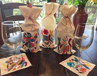 Image Otomi Wine Bottle Gift Bag