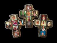 Image Frida Cross with Tiles, Tin, Small