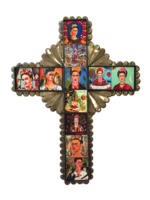 Image Frida Cross with Tiles, Tin, Large