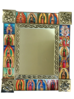 Image Tin Mirror with Guadalupe Tiles