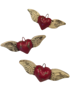 Image Sacred Heart Ornaments, Red, S/3
