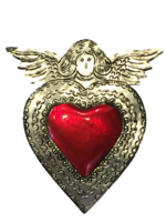 Image Tin Sacred Heart, Large, (A)
