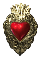 Image Tin Sacred Heart, Large, (C)