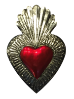 Image Tin Sacred Heart, Large, (E)