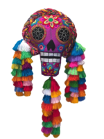 Image Giant Embroidered Calavera with Braid and Tassels
