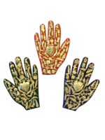 Image Healing Hand with Milagros