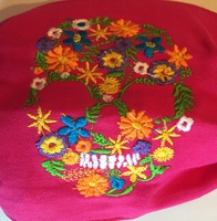 Image Mexican Face Mask, Embroidered Colorful Calavera