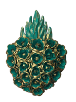 Image Sacred Heart with Roses, Turquoise