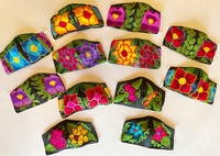 Image Mexican Face Mask, Floral Designs with Yarn
