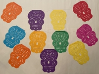 Image Large Sugar Skull Papel Picado, S/12