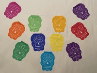 Image Medium Sugar Skull Papel Picado, S/12