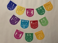 Image Mini Christmas Papel Picado, Oval, S/12