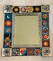 Image Tin Mirror with Suns
