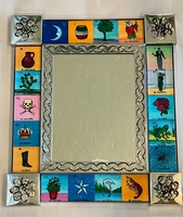 Image Tin Mirror with Loteria Images