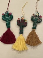 Image Saguaro Cactus Ornament with Flowers