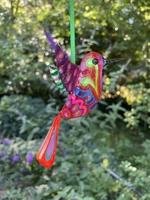 Image Hand Painted Tin Hummingbird Ornaments