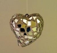 Image Mirrored Mosaic Heart Ornament