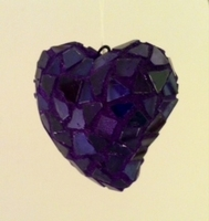 Image Purple Mosaic Heart Ornament