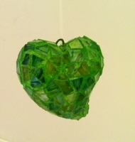 Image Green Mosaic Heart Ornament